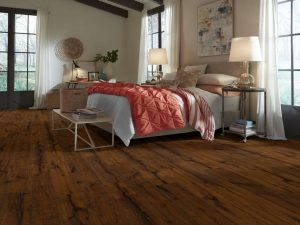 attractive dark wood flooring